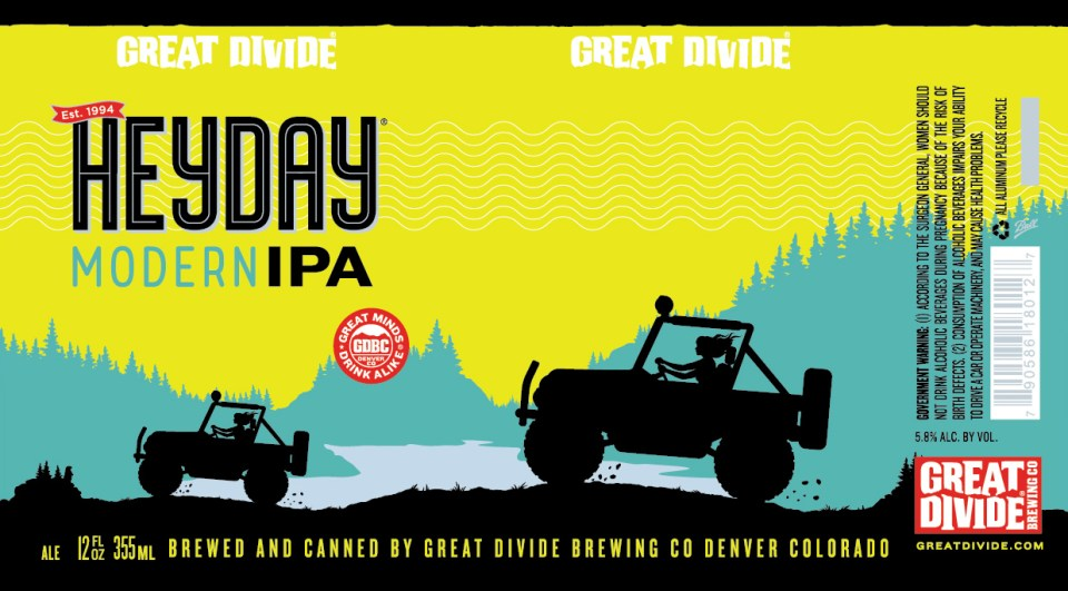 Great Divide Heyday Modern IPA