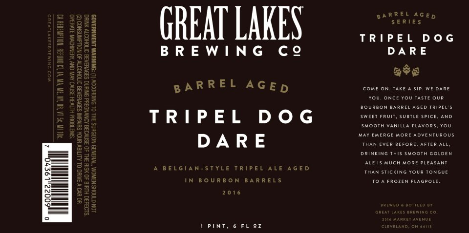 Great Lakes Barrel Aged Tripel Dog Dare