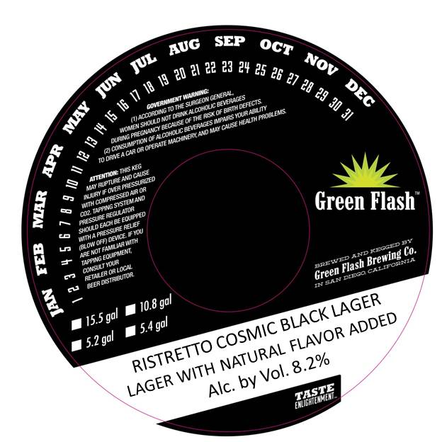 Green Flash Ristretto Cosmic Black Lager - Beer Street Journal