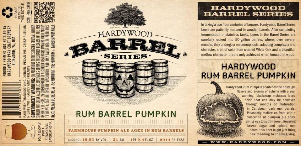 Hardywood Rum Barrel Pumpkin