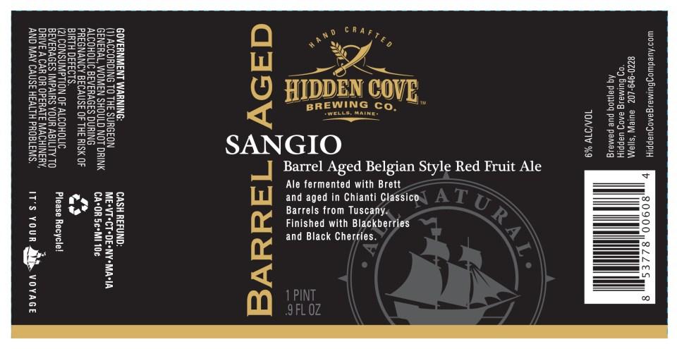 Hidden Cove Brewing Barrel Aged Sangio