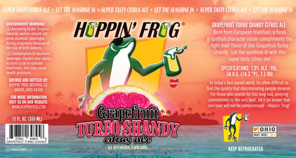 Hoppin Frog Grapefruit Turbo Shandy