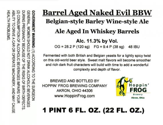 TMOH - Beer Review 539#: Hoppin Frog Barrel Aged Naked