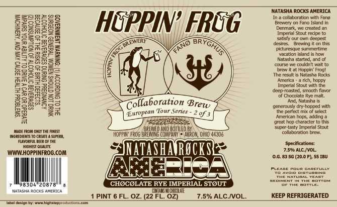 Hoppin' Frog Natasha Rocks America