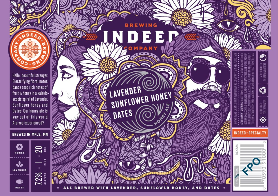 Indeed Brewing Lavender Sunflower Honey Dates