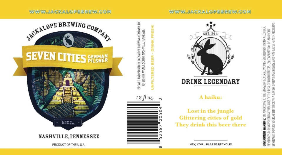 Jackalope Brewing Seven Cities German Pilsner
