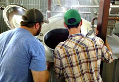 Chase and Garrett on brew day