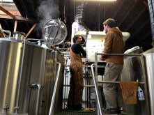 John Laffler and Michael Steffing on brew day