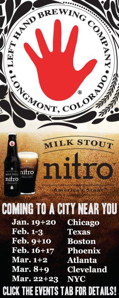 Left Hand Nitro Milk Stout List