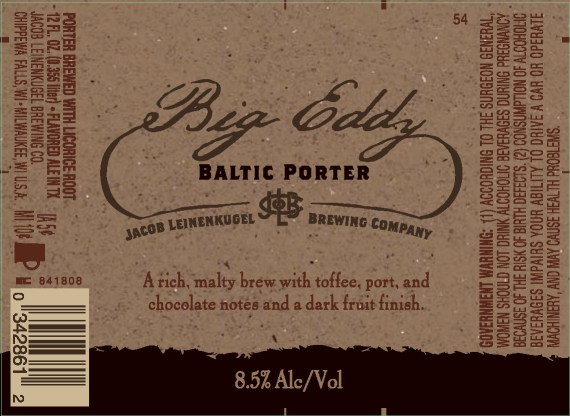 Leinenkugel Big Eddy Baltic Porter