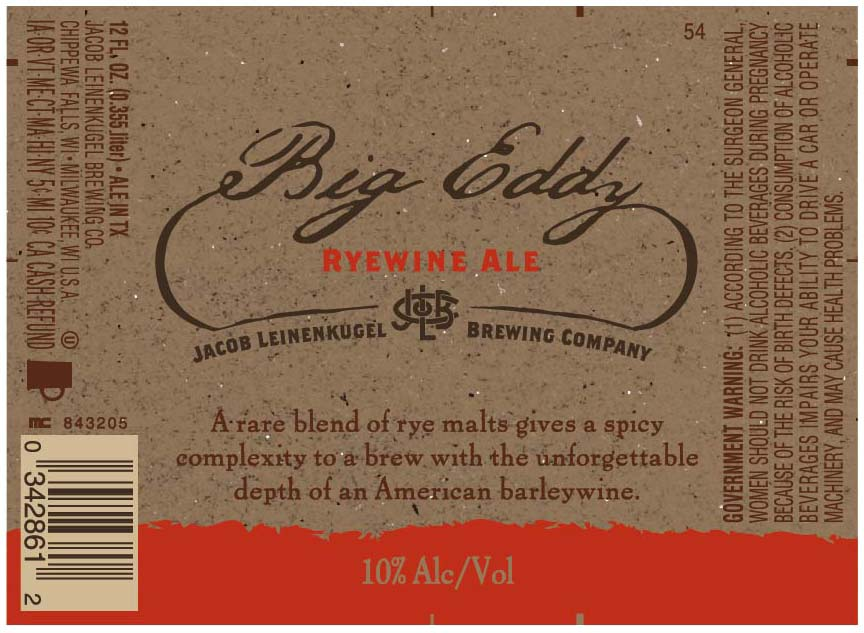Leinenkugel's Big Eddy Ryewine Ale Body