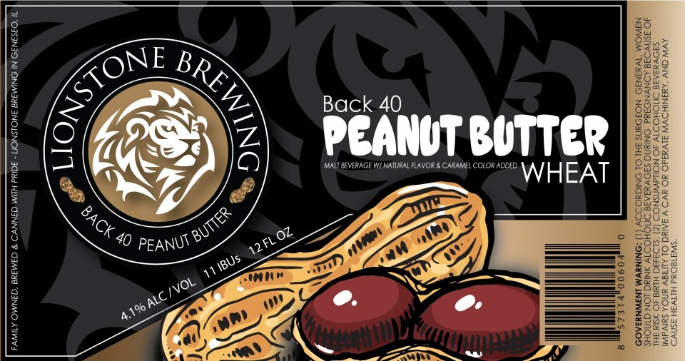 Lionstone Brewing Back 40 Peanut Butter Wheat