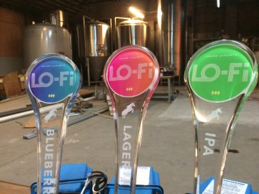 Lo-Fi Brewing's tap handles