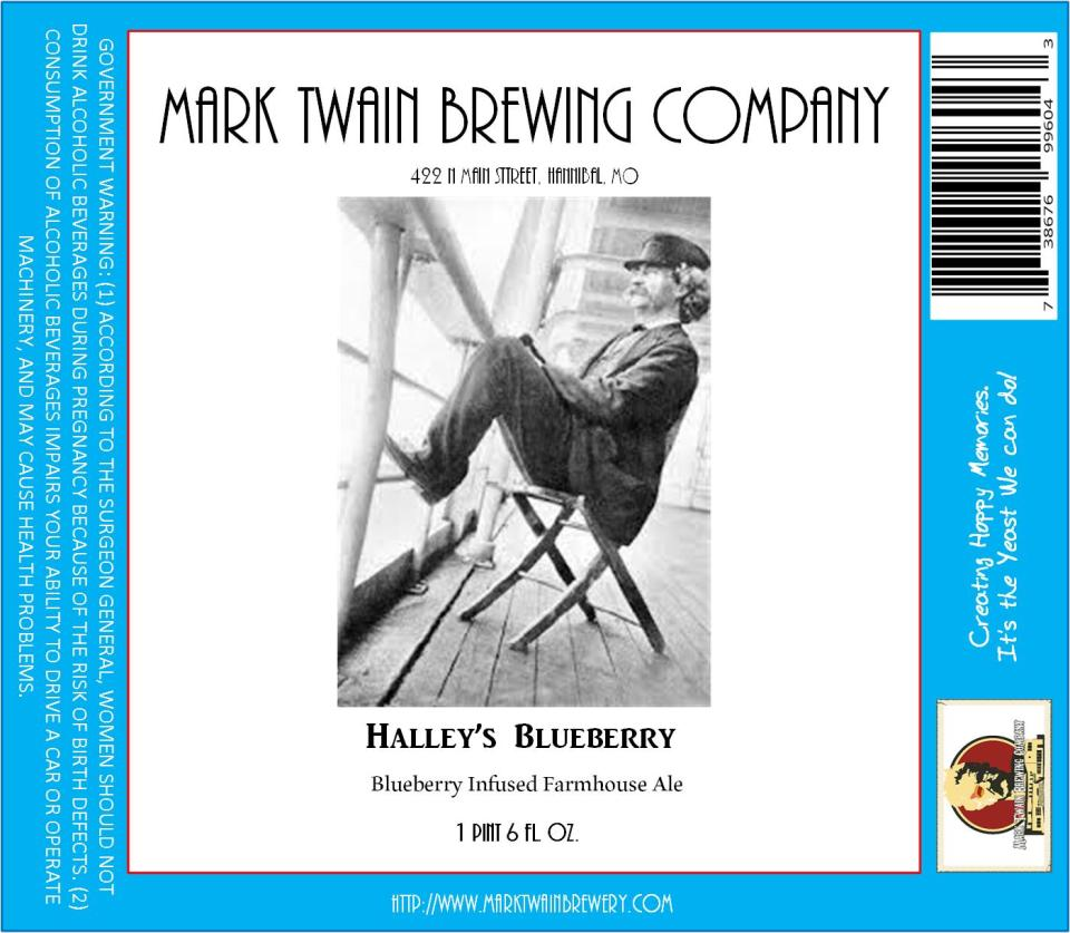 Mark Twain Brewing Halley's Blueberry