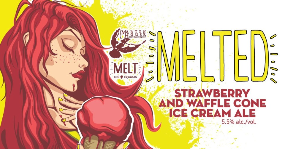 Martin House Melted Strawberry and Waffle Cone Ice Cream Ale