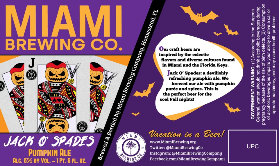 Miami Brewing Jack O' Spades