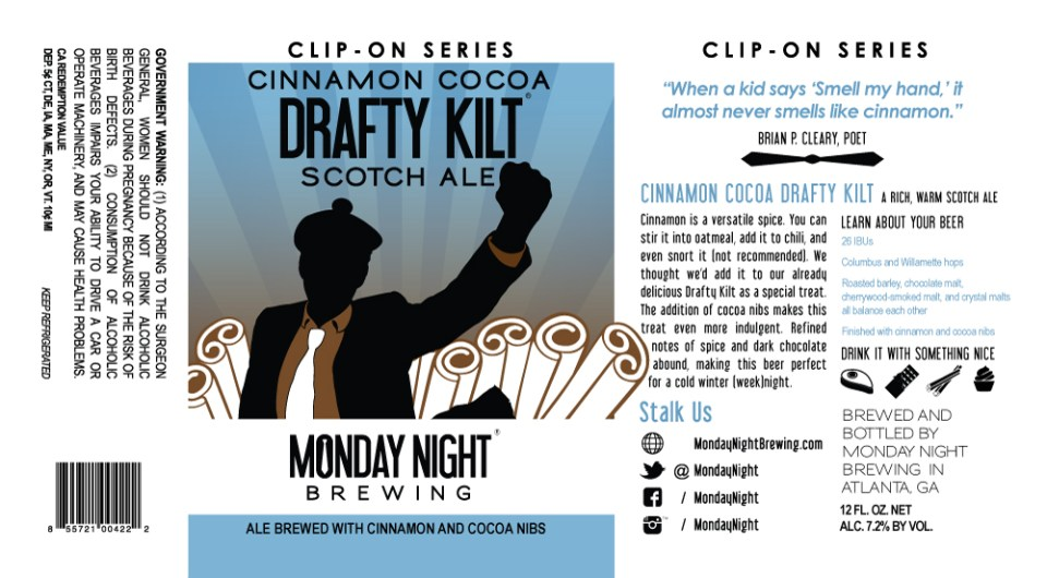 Monday Night Cinnamon Cocoa Drafty Kilt