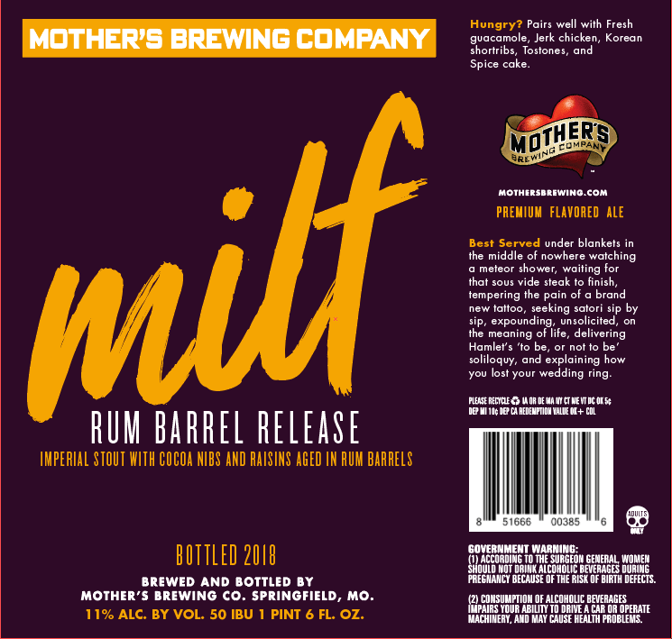 Mother's Brewing Rum Barrel MILF