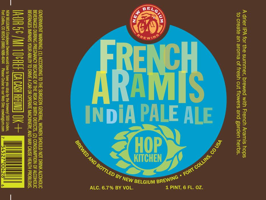 New Belgium Hop Kitchen French Aramis