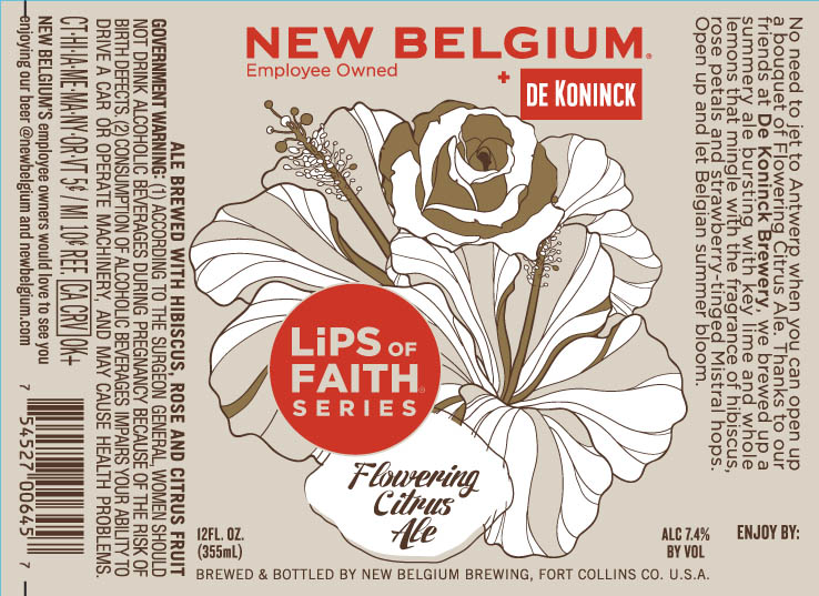 New Belgium Lips Of Faith Flowering Citrus Ale