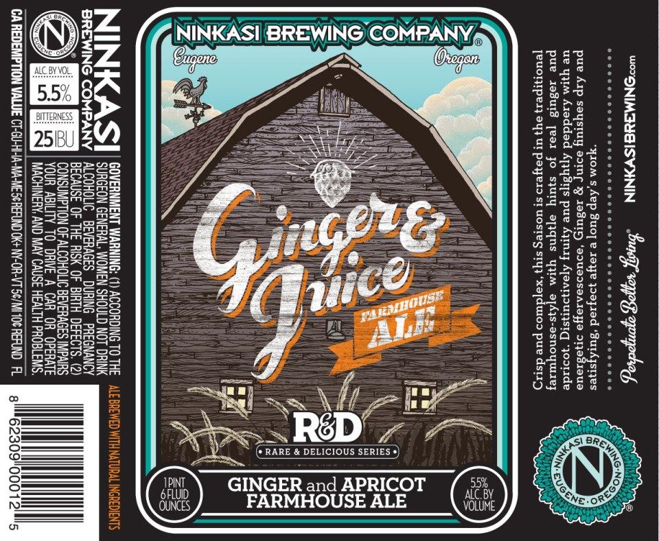 Ninkasi Ginger & Juice Farmhouse Ale