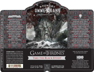 Ommegang Take the Black Stout, second in the series.