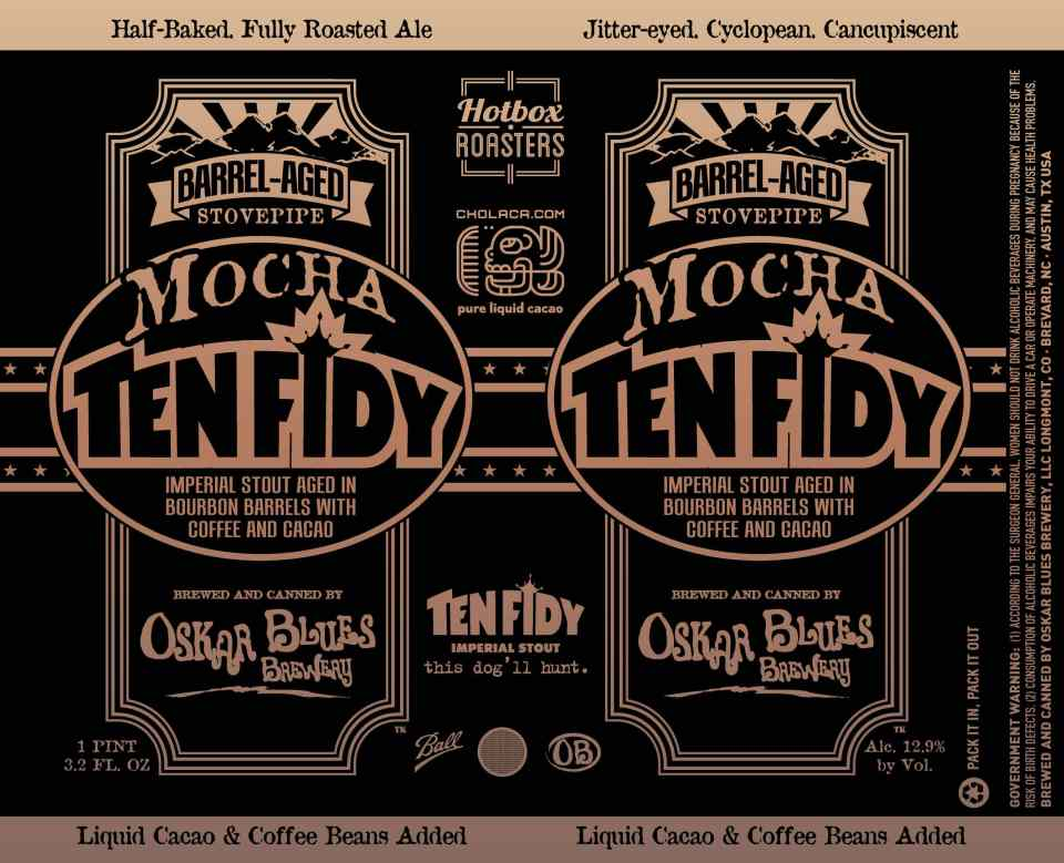 Oskar Blues Barrel-Aged Mocha Ten FIDY