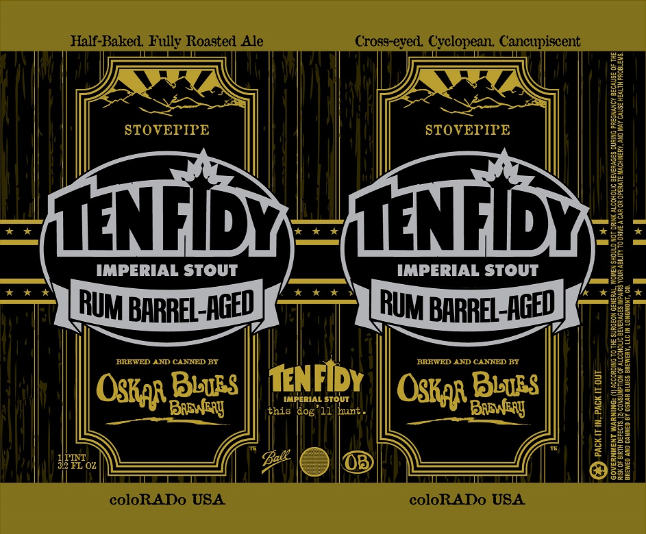 Oskar Blues Rum Barrel Ten Fidy