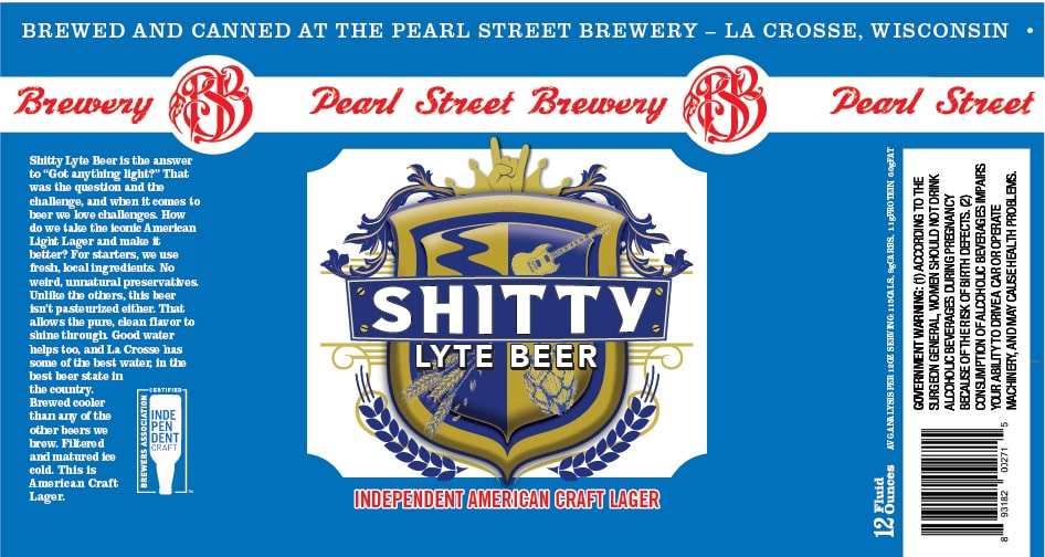 Pearl Street Shitty Lyte Beer