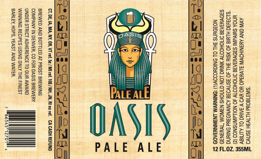 Prost Brewing Company Oasis Pale Ale