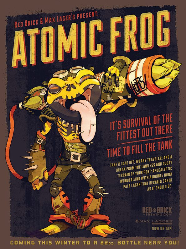 Red Brick Max Lagers Atomic Frog