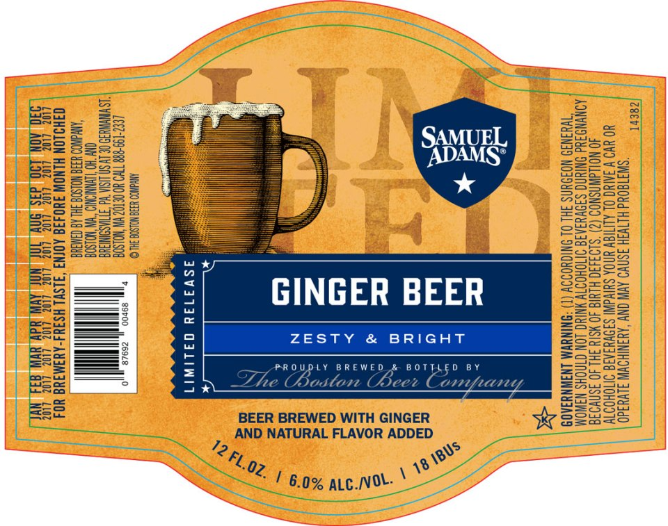 Sam Adams Ginger Beer