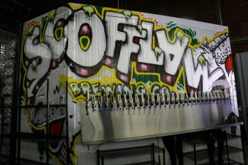 """The brewery's tap room opened earlier this year. """"It's helped us break even."""""""