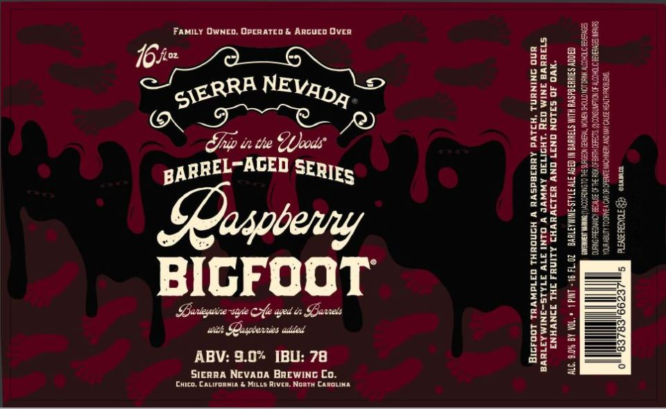 Sierra Nevada Raspberry Bigfoot