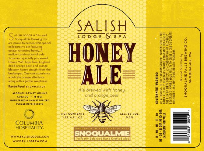 Snoqualmie Salish Lodge & Spa Honey Ale