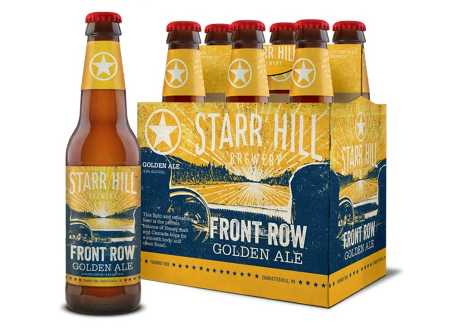Starr Hill Front Row Golden Ale