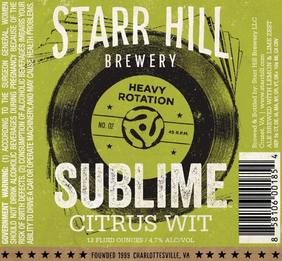 Starr Hill Sublime Citrus Wit
