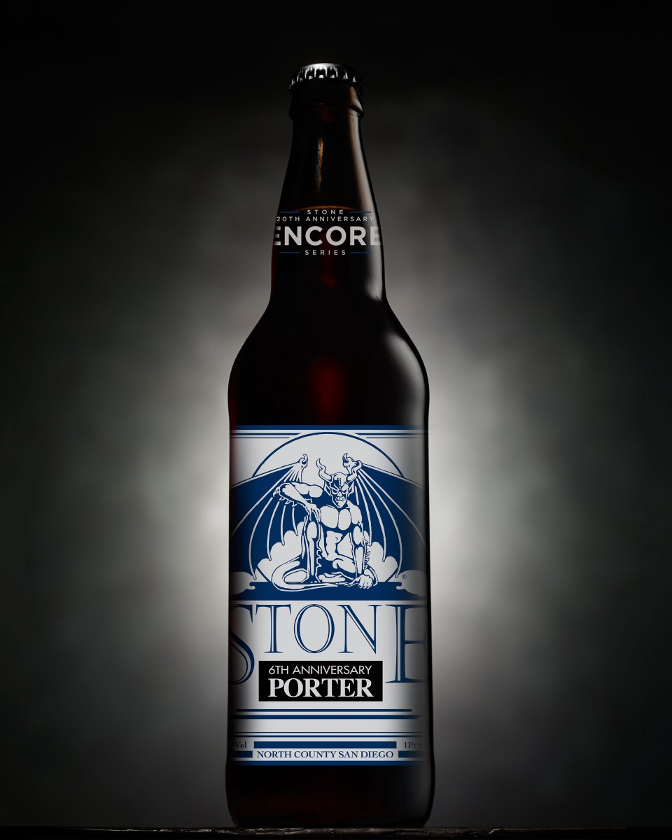 Stone 6th Anniversary Porter bottle