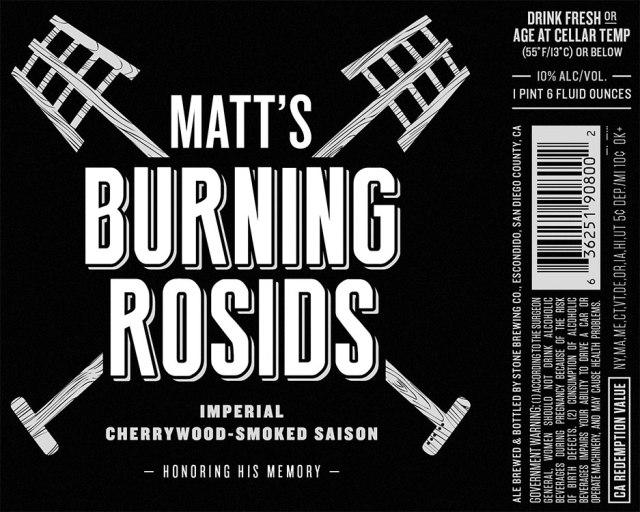 Stone Brewing Matt's Burning Rosids