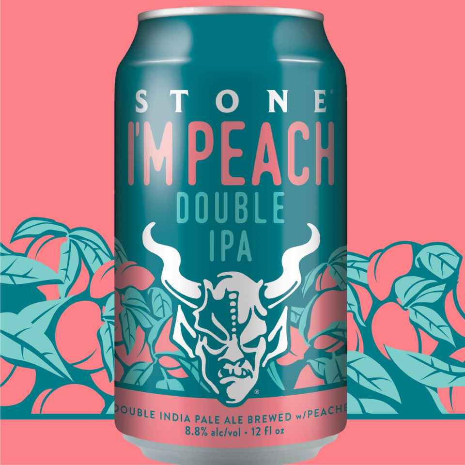 Stone I'm Peach Double IPA Cans-min