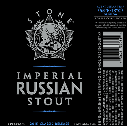 Stone Imperial Russian Stout 2015