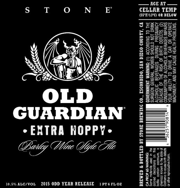 Stone Old Guardian Extra Hoppy
