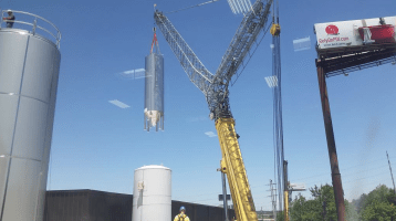 Expansion requires serious cranes