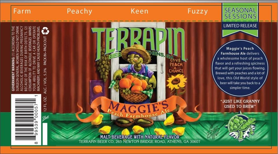 Terrapin Maggie's Peach Farmhouse Ale Cans