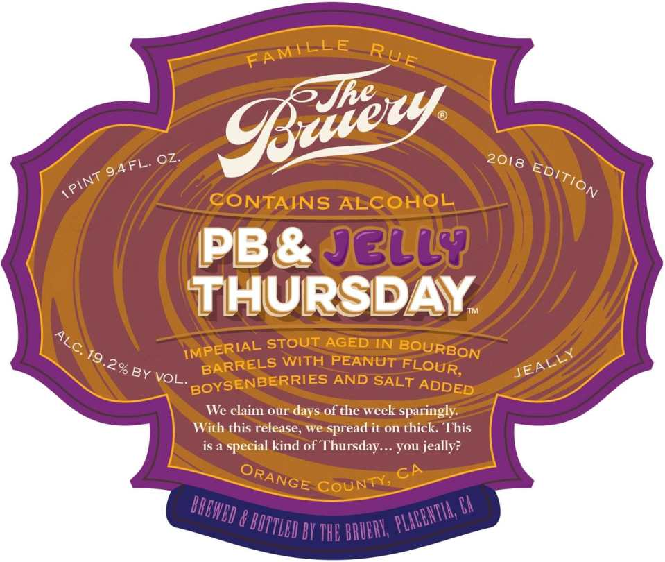 The Bruery PB & Jelly Thursday