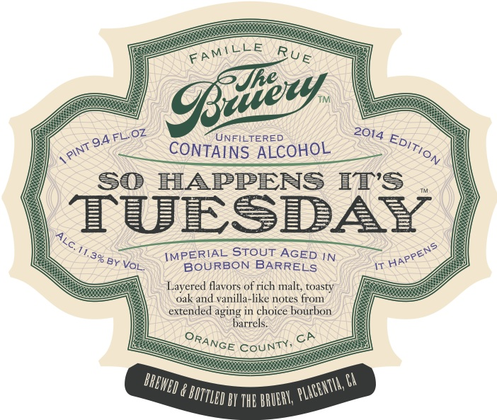 Image result for bruery just so happens it's tuesday