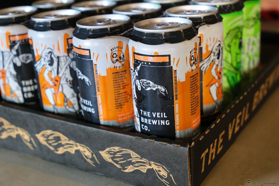 The Veil Brewing Master Shredder cans
