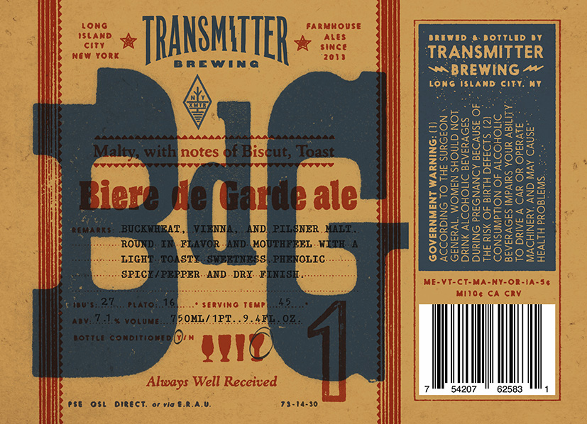 Transmitter Brewing BDG Ale