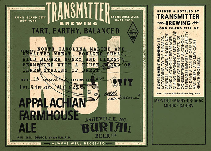Transmitter NC1 Appalacian Farmhouse Ale