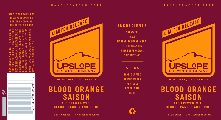 Upslope Blood Orange Saison